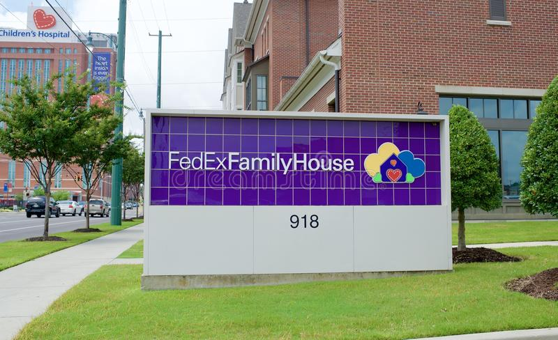 FedEx Family House, Memphis TN. FedExFamilyHouse is a home away from home for out-of-town families with children receiving treatment at Le Bonheur Children stock photo