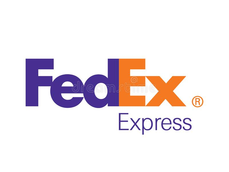 Fedex Logo Editorial Vector Illustration exprès illustration libre de droits