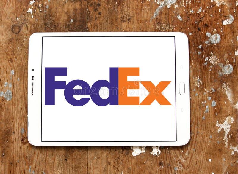 Fedex towarzystwa żeglugowe pocztowy logo zdjęcia stock