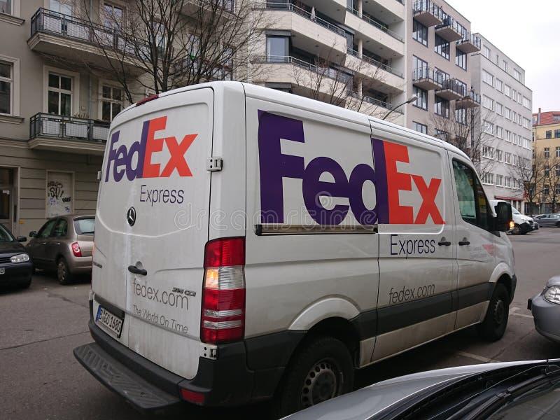 Fedex Van fotos de archivo