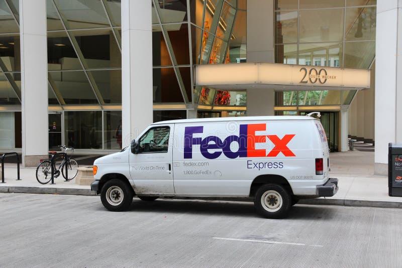 Fedex-vrachtwagen stock foto's