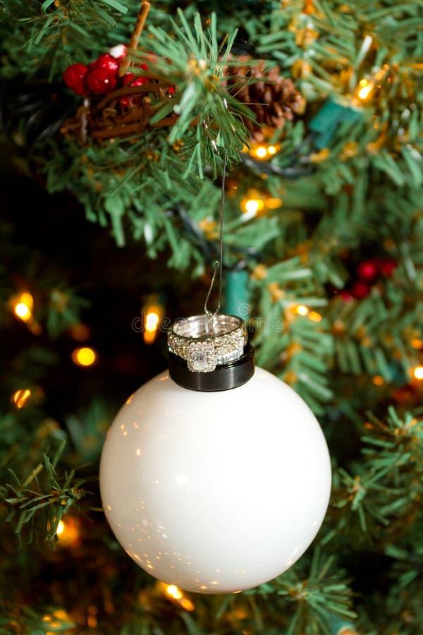Fedi nuziali di Natale fotografie stock