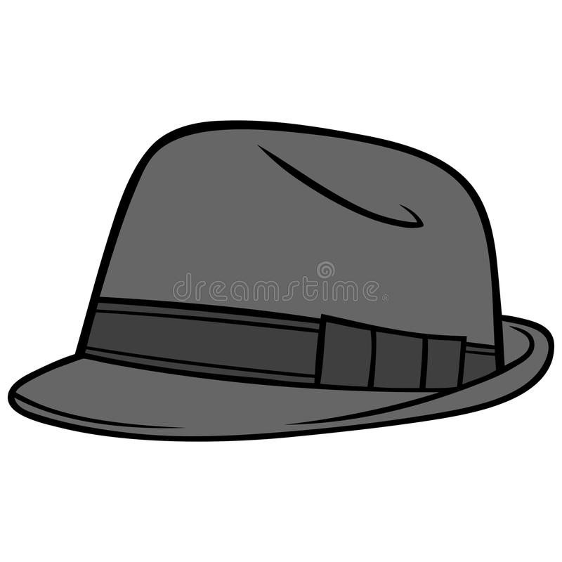 Fedora Hat vektor illustrationer