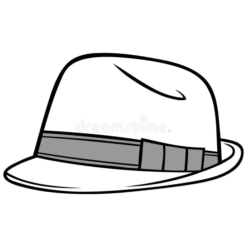Fedora Hat Illustration royalty free illustration