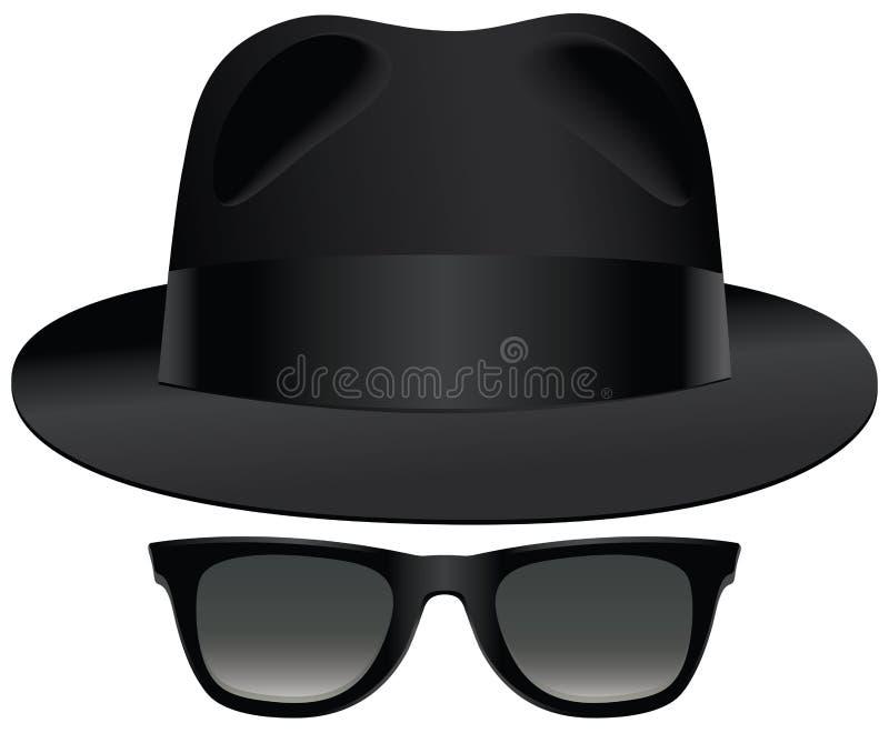 Download Fedora sunglasses stock vector. Image of dark, blues - 42496585