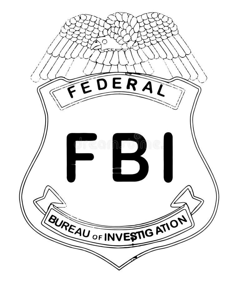Feds emblem royaltyfri illustrationer