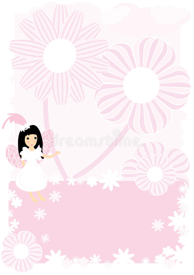 Fee en Bloemen vector illustratie