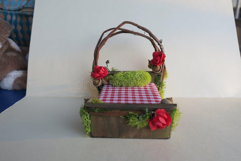 Fee Forest Bed - Miniatuurbed - Fantasiebed stock afbeeldingen