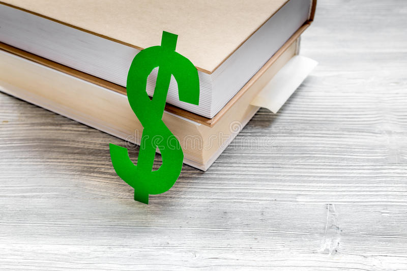Download Fee-paying Education Set With Dollar Sign On White Table Top View Stock Image - Image of business, graduation: 91751165