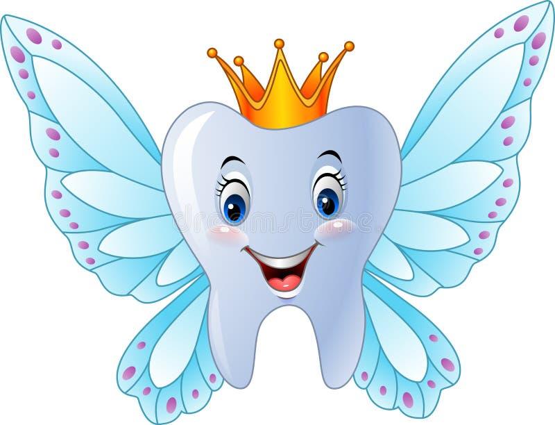 Fee van de beeldverhaal de glimlachende tand vector illustratie