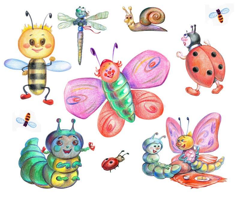 Fee-verhaal insecten vector illustratie