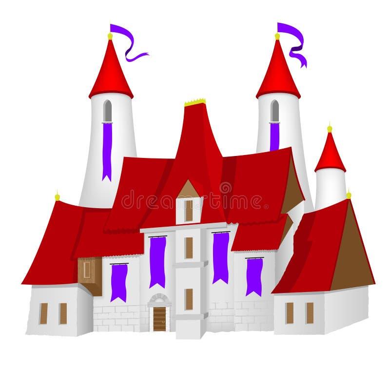 Fee-verhaal kasteel stock illustratie