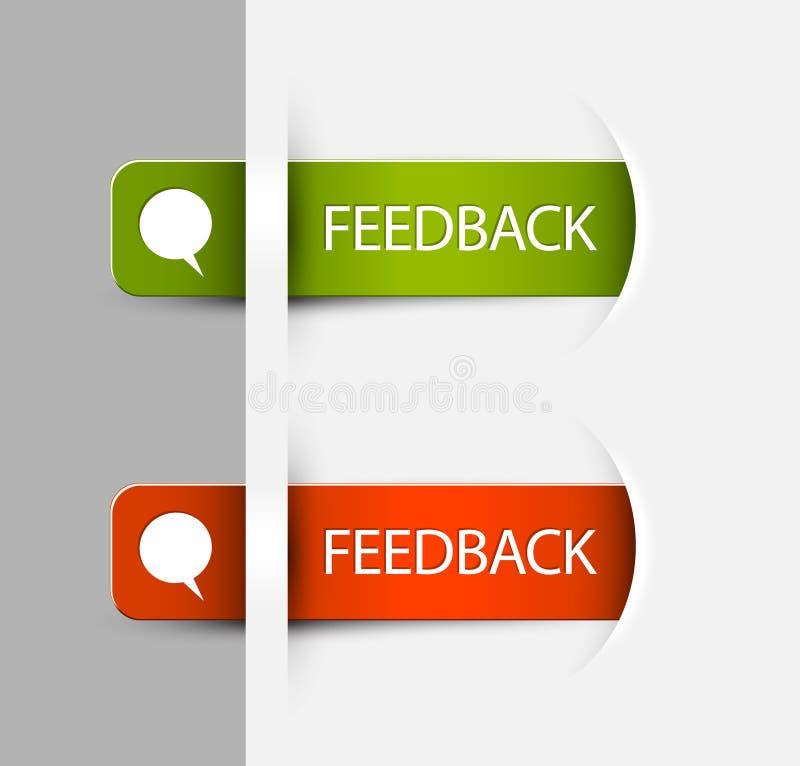 Feed-back-Kennsätze/Aufkleber lizenzfreie abbildung