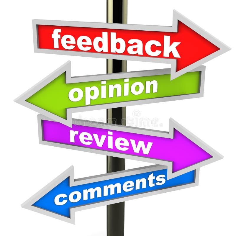 Feed-back und Meinung stock abbildung