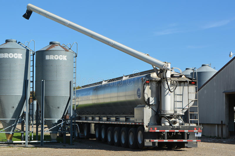 Feed Delivery stock photography