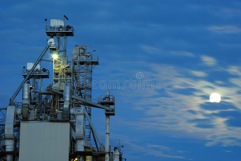 Download Feed Factory stock photo. Image of plant, twilight, architectural - 17524242