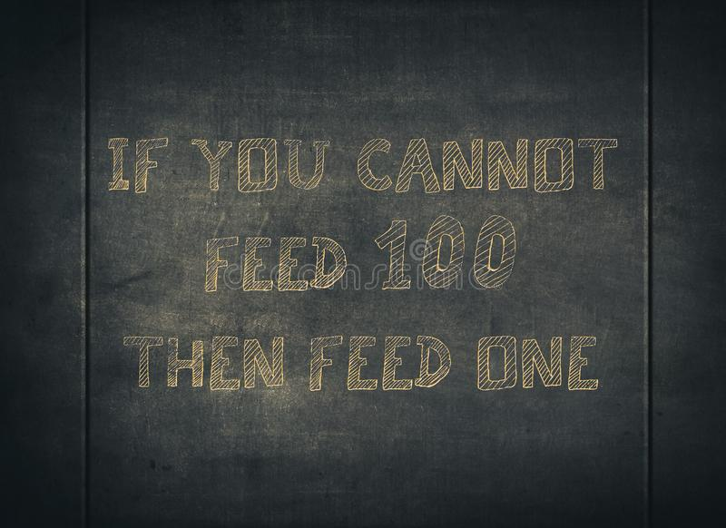 Feed share food caring help homeless typography royalty free stock image