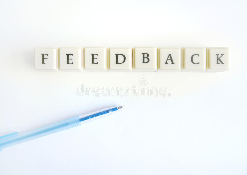 Feedback photos libres de droits