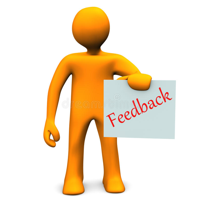 Feedback illustration stock