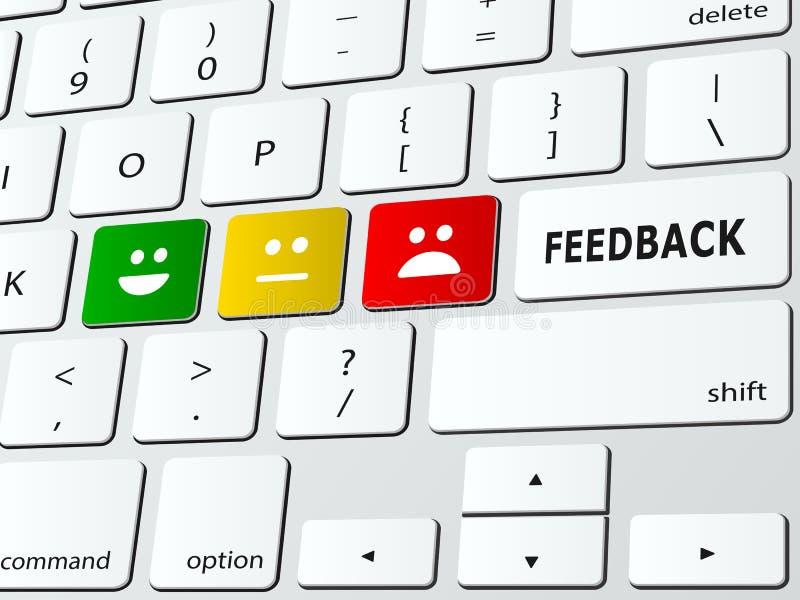feedback vektor abbildung