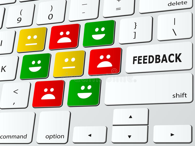 feedback stock abbildung