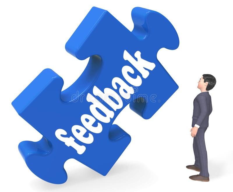 Feedback bedeutet Wiedergabe der Meinungs-Kommentar-Übersichts-3d lizenzfreie abbildung