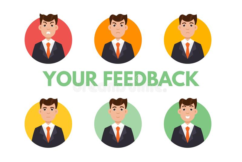 Feedback-Benutzer Kundenrezensions-Konzept stock abbildung