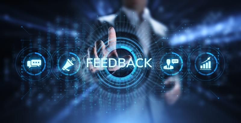Feedback Customer satisfaction review testimonials service business concept. stock images