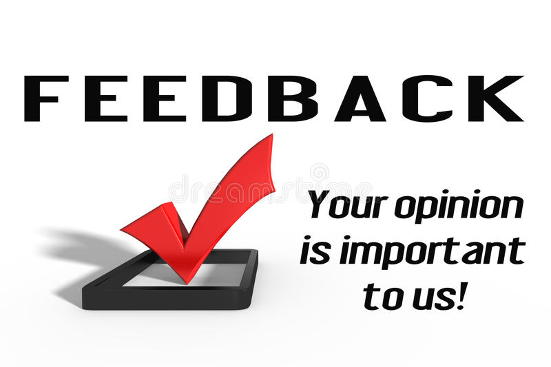 Feedback royalty free illustration