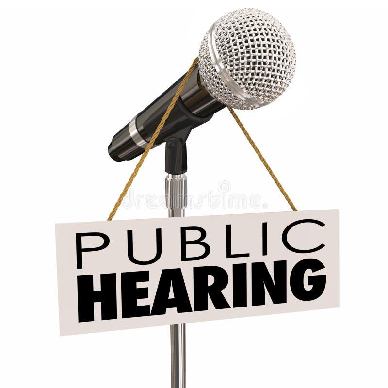 Feedback da opinião da parte da reunião de informação da audiência pública ilustração do vetor
