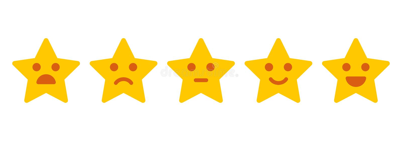 Feedback de cliente Ilustração icónica do nível de satisfação ilustração stock
