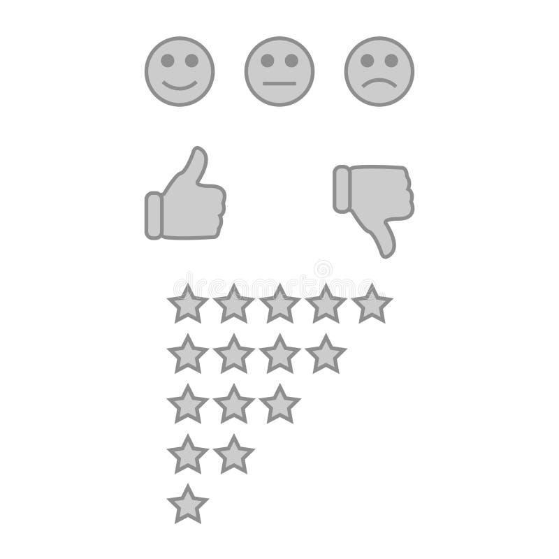 Feedback de cliente ou conceito da experiência do usuário ilustração do vetor