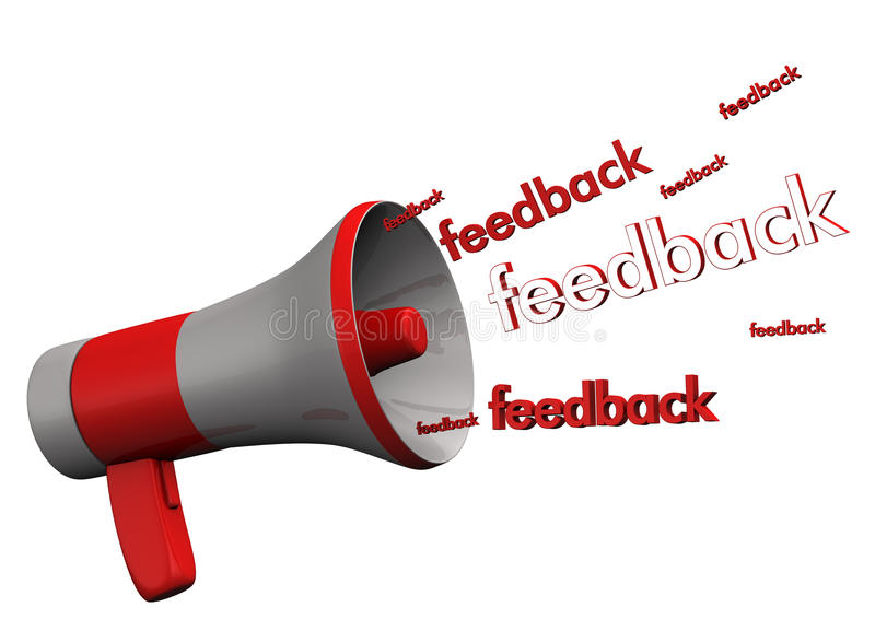 Feedback de mégaphone illustration stock