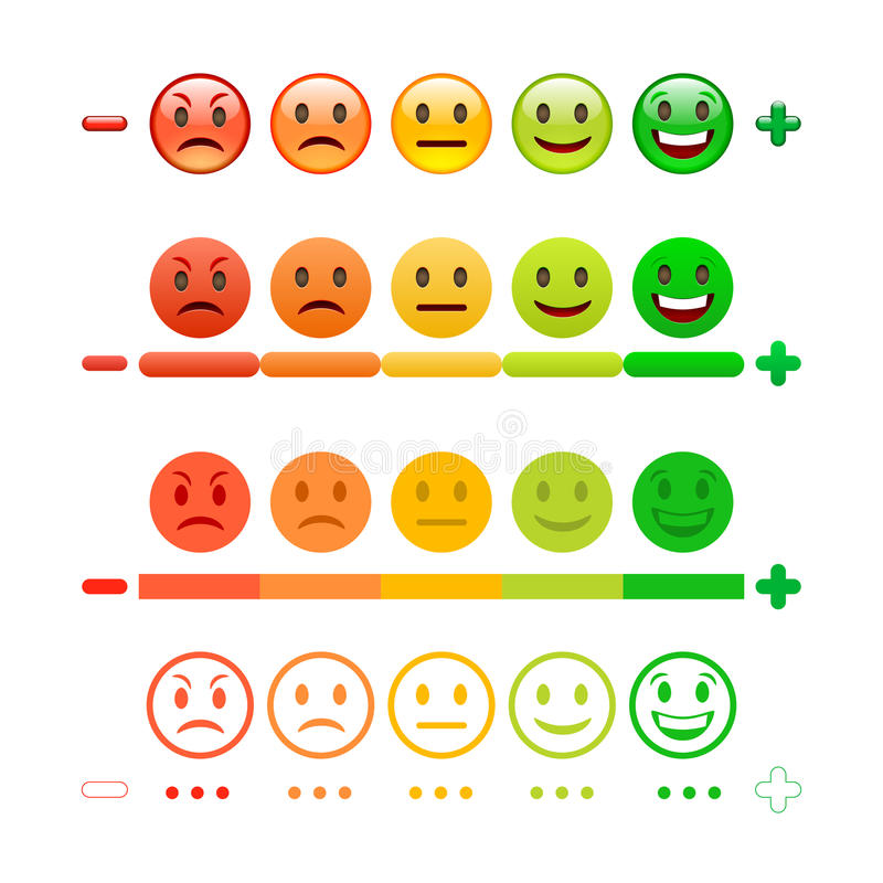 Feedback Emoticon bar. Feedback Emoji. vector illustration