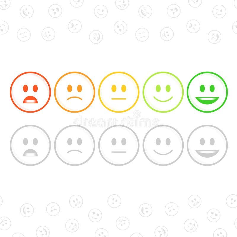 Feedback Emoticonsatz vektor abbildung
