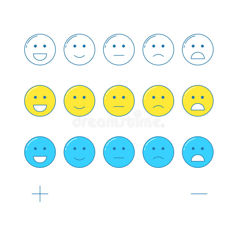 Feedback Emoticonskala stock abbildung