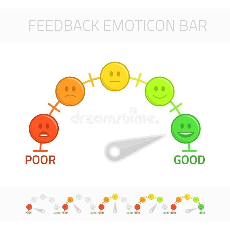 Feedback Emoticonstange vektor abbildung