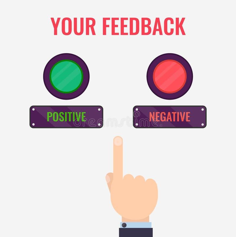 Feedback evaluation concept stock illustration