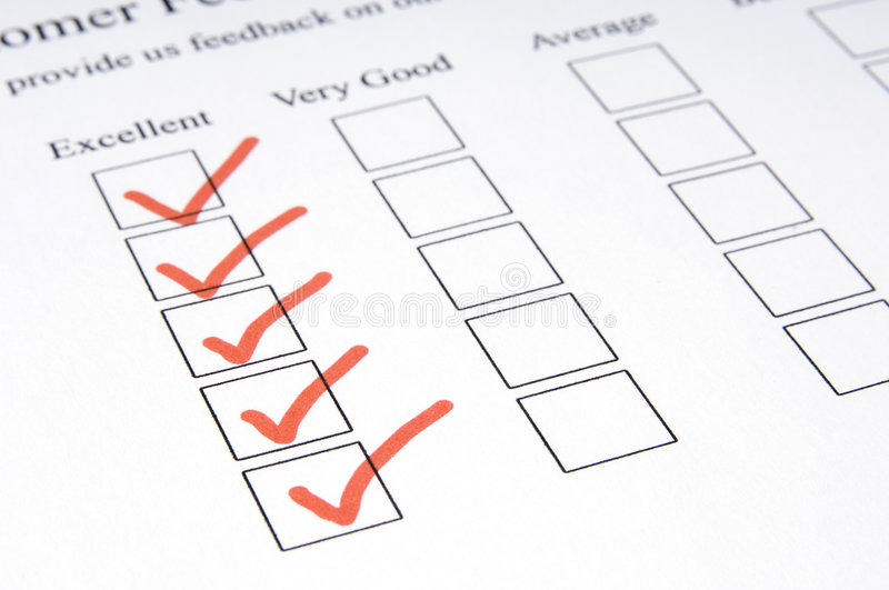 Feedback Form #1 stock image