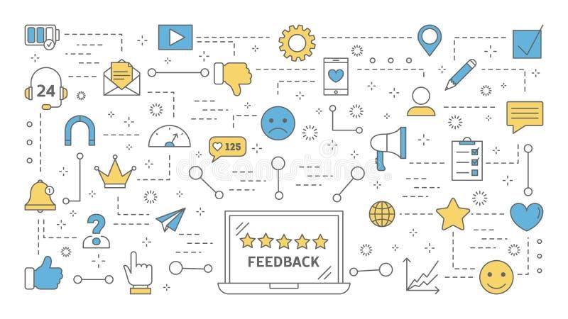 Feedback-Konzept Idee einer Beurteilung der Kreditwürdigkeit eines Kunden vektor abbildung