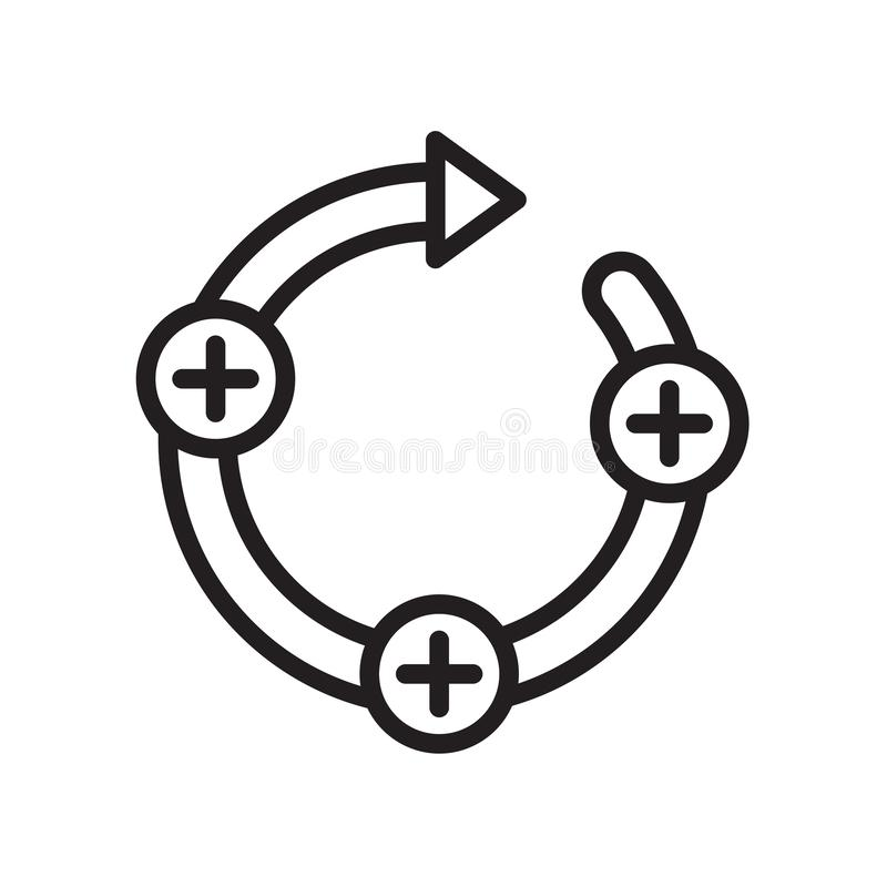 Feedback loop icon isolated on white background. For your web and mobile app design stock illustration