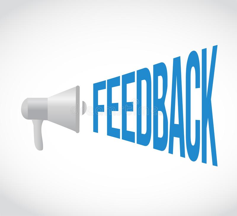 Feedback loudspeaker message isolated over a white stock photo