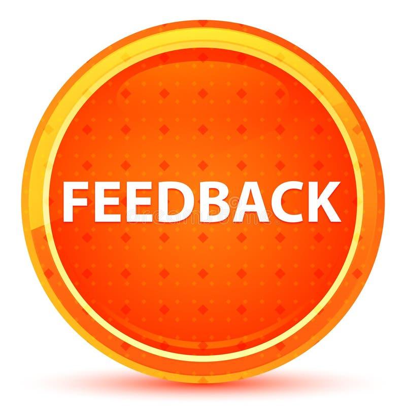 Feedback-natürlicher orange runder Knopf lizenzfreie abbildung
