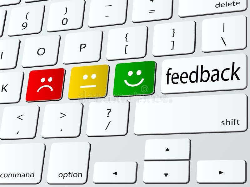 Feedback. Online feedback computer keyboard icon