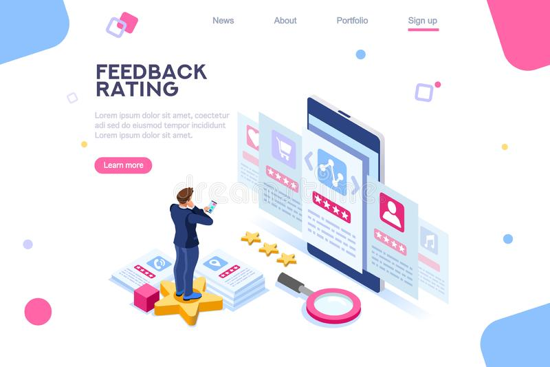 Feedback Online Rating Choice Template vector illustration