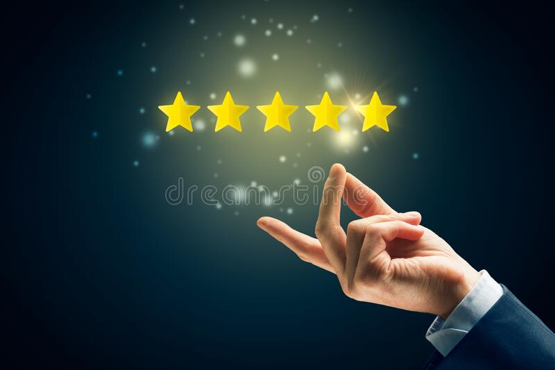 Feedback, review and rating concepts stock photography
