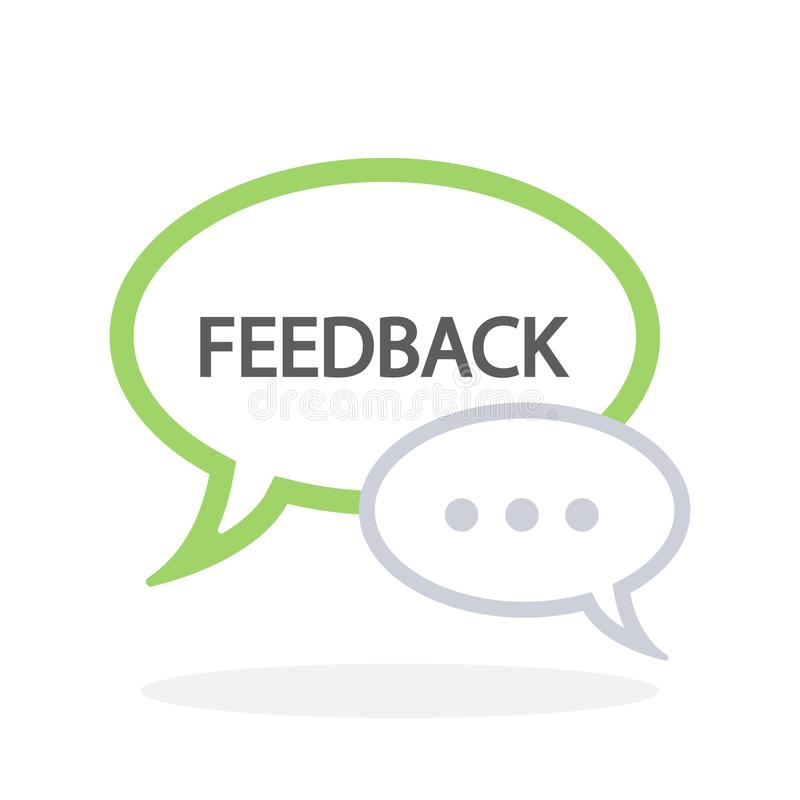 Feedback speech bubbles. Talking about your impressions stock illustration