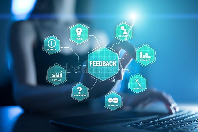 Feedback- und Geschäftskommunikationskonzept Service- und Kundendienst stock abbildung