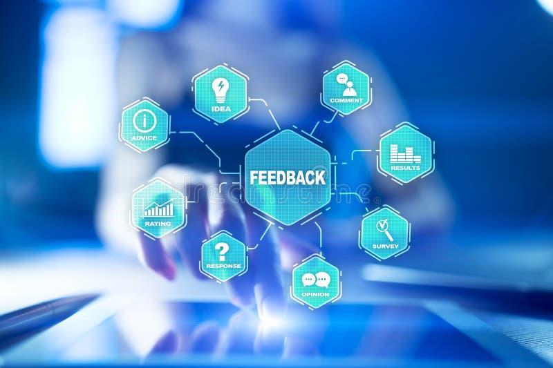 Feedback- und Geschäftskommunikationskonzept Service- und Kundendienst vektor abbildung