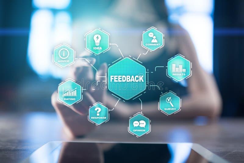 Feedback- und Geschäftskommunikationskonzept Service- und Kundendienst lizenzfreie abbildung